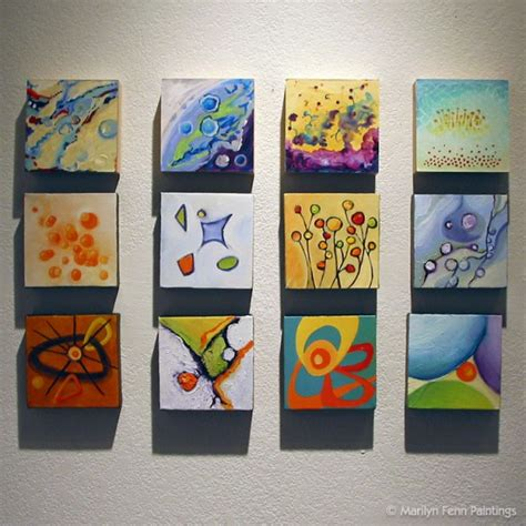 small acrylic painting ideas mini canvas display idea pinteres
