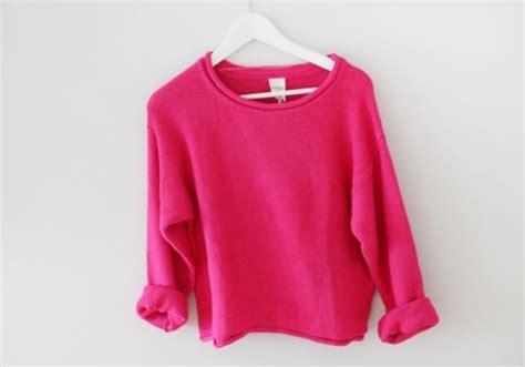 pink knits sweater pink crewneck comfy winter