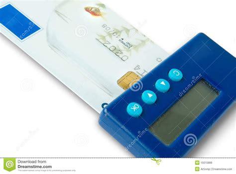 pocket reader pocket reader the bank credit card royalty free stock