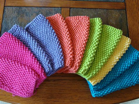 easy knitted dishcloth knit simple seed stitch dishcloths free pattern