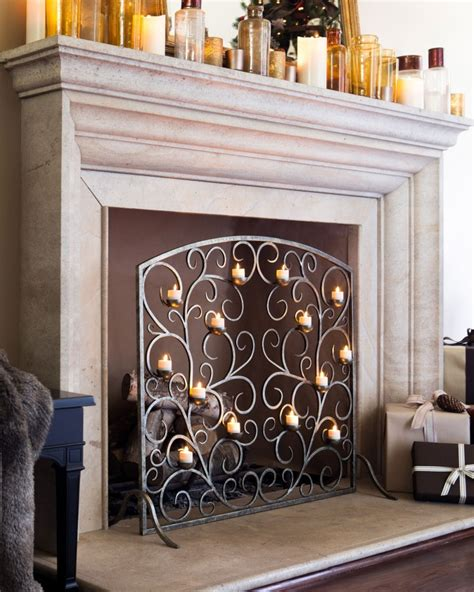 decorative fireplace ideas candle displays for fireplaces 12 lovely designs and ideas