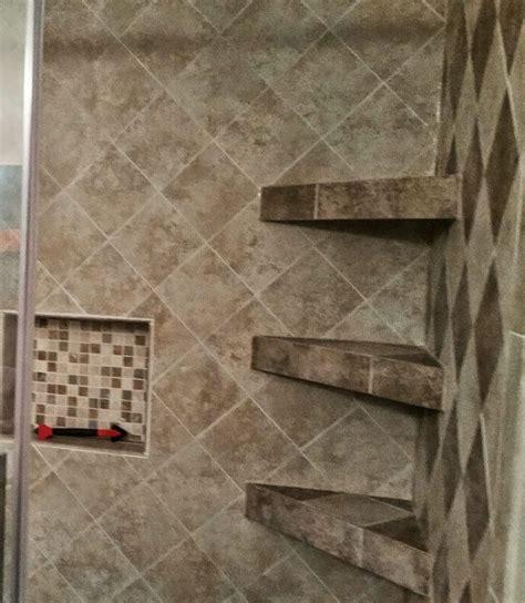 shower tile shelves 17 best ideas about shower shelves on subway