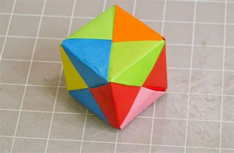 easy origami things modular origami how to make a cube octahedron