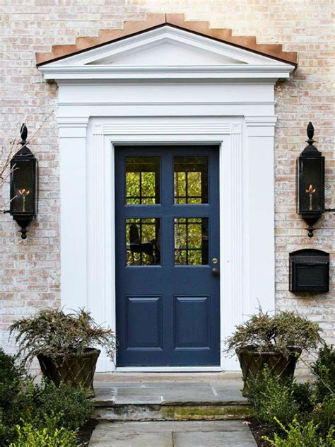 navy blue front doors make a dramatic impression 15 painted front doors