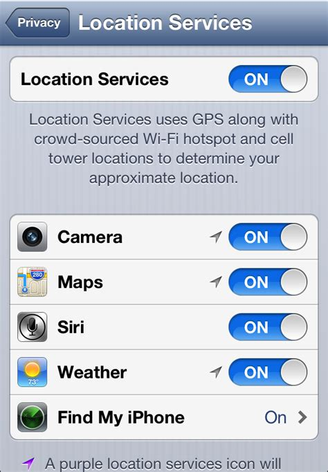 how to turn on location services on iphone turn location