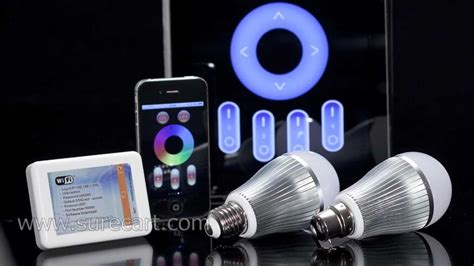 led light bulb controlled by phone iphone and android phone controlled led light bulb mi