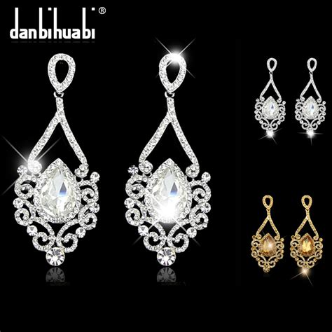 wholesale for jewelry bridal earrings for fashion platinum silver