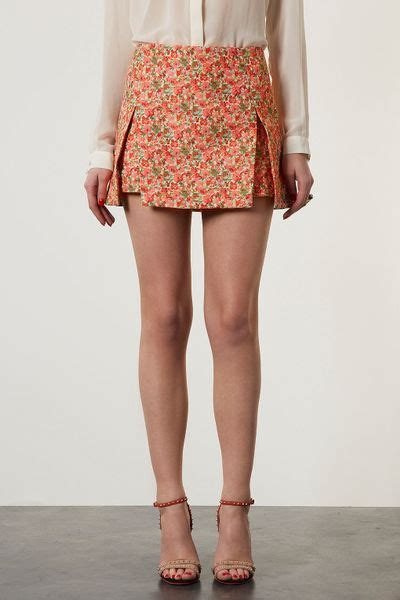 origami skirt topshop origami skirt in floral multi lyst