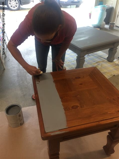 diy chalk paint sanding diy table to ottoman and how to paint furniture without