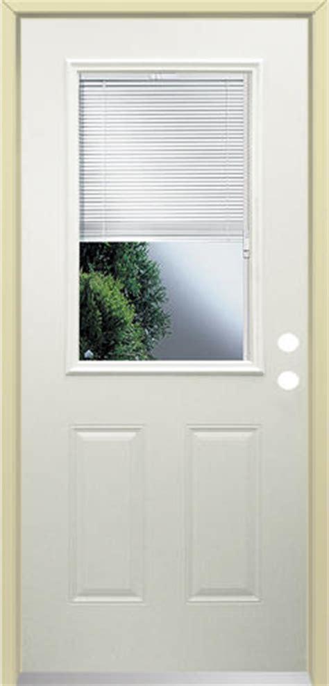 menards mastercraft exterior doors mastercraft lt 10 steel half lite with blinds prehung ext