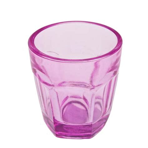 pink glass pink glass tealight candle holder 65mm