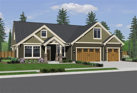 Single Story Craftsman Style Homes House Plans