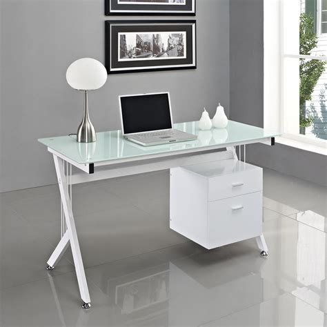 home office table desk white glass computer desk pc table home office