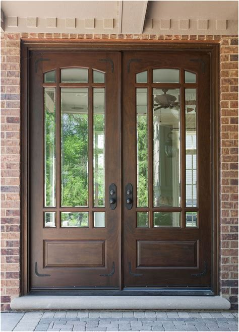 wood glass front door wood front doors ideas with stained glass interior