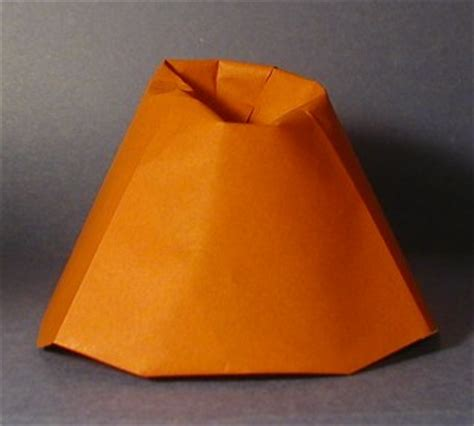 how to make a origami volcano volcano prehistoric origami the unofficial