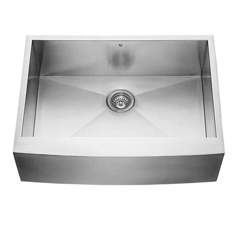stainless farmhouse kitchen sinks shop vigo 30 in x 22 25 in stainless steel single basin