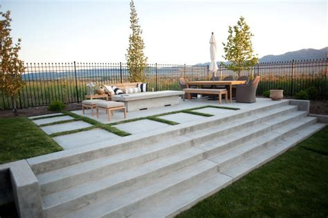 backyard concrete patio designs concrete patio design ideas and cost landscaping network