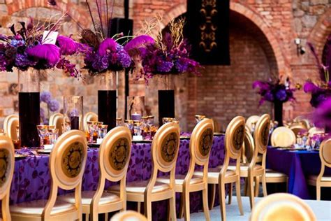 purple gold decorations wedding inspiration stunning purple gold decor