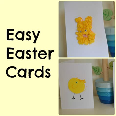 easy to make easter cards easy easter cards for