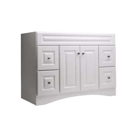 lowes white bathroom vanity style selections 20d vsdb48 northrup 48 in x 21 in white bathroom vanity lowe s canada