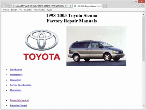 small engine repair manuals free download 1998 toyota t100 seat position control service manual small engine service manuals 2003 toyota sienna electronic valve timing
