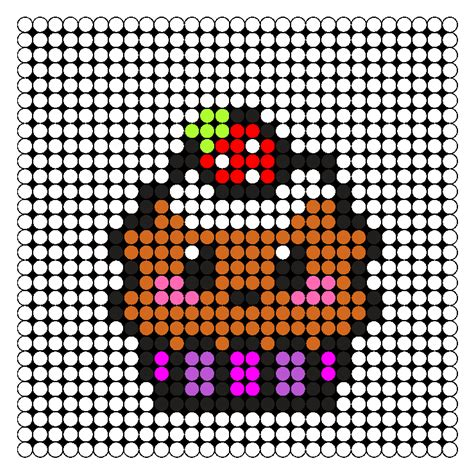 kawaii perler bead patterns kawaii cupcake perler bead pattern bead sprites food