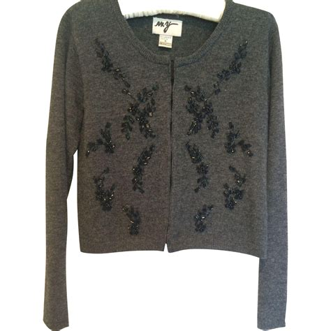 beaded cardigan vintage beaded cardigan sweater in charcoal and black from