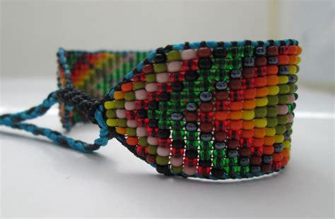 indian bead bracelet huichol american inspired beaded bracelet or anklet