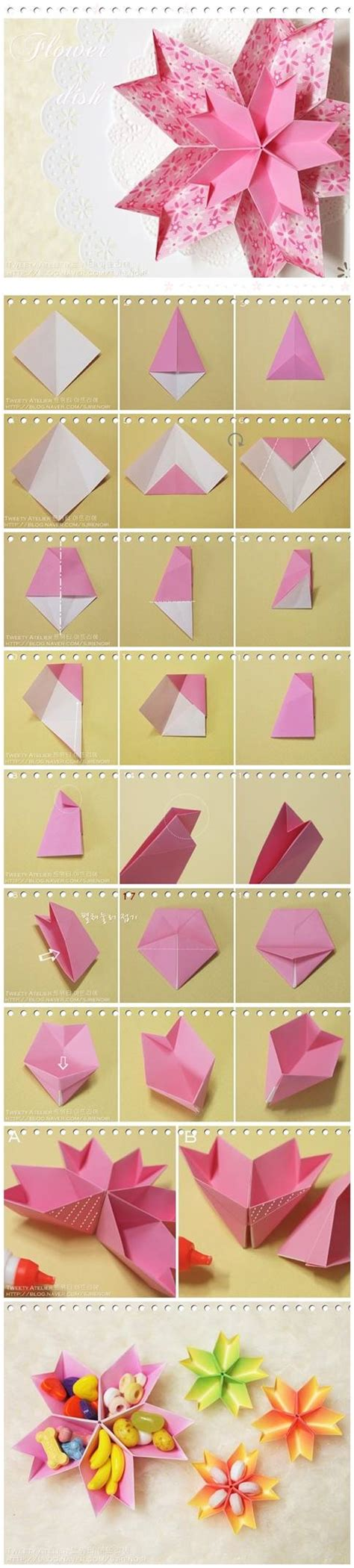 paper craft step by step how to make paper flower dish step by step diy tutorial