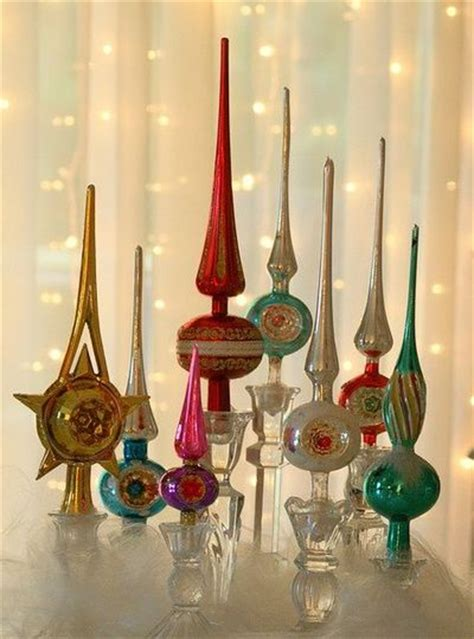 tree topper holder vintage tree toppers displayed in glass candle holders