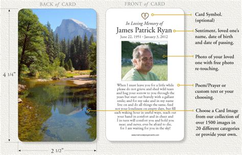 how to make funeral cards memorial prayer cards