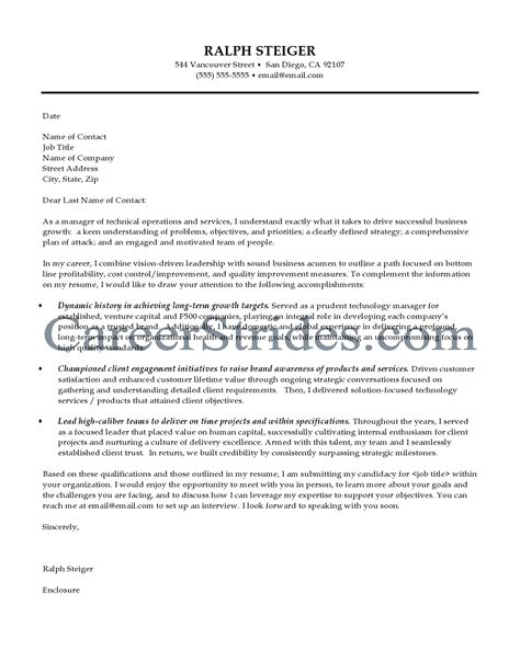 what info goes in a cover letter