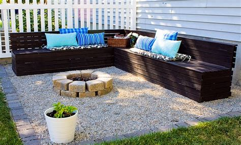 pea gravel pit pit pea gravel wood benches home