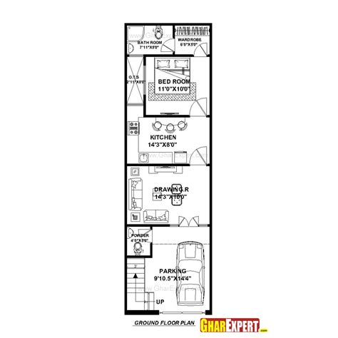 50 sq yard home design house plan for 15 by 50 plot plot size 83