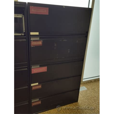 global lateral file cabinet global black 5 drawer lateral file cabinet locking