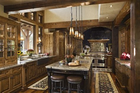 rustic kitchens designs rustic house design in western style ontario residence