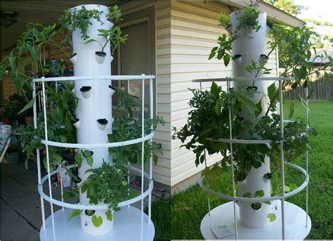 tower vegetable garden with tower garden