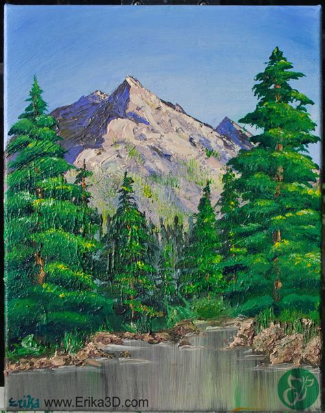 bob ross painting valley view bob ross inspired valley view erika lehner