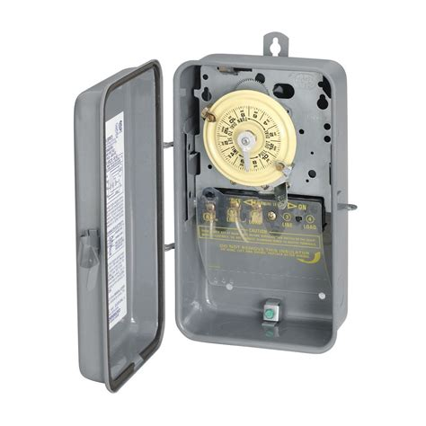 outdoor light timer intermatic t101r spst 24hr 40a 2hp timer 125v outdoor