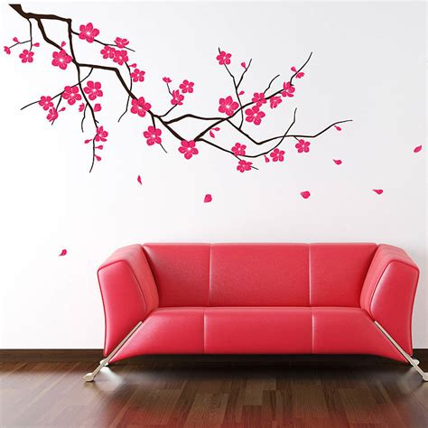 images of wall stickers branch with blossom wall stickers by parkins interiors