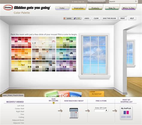 behr paint colors interactive glidden mix creative graphic design marketing