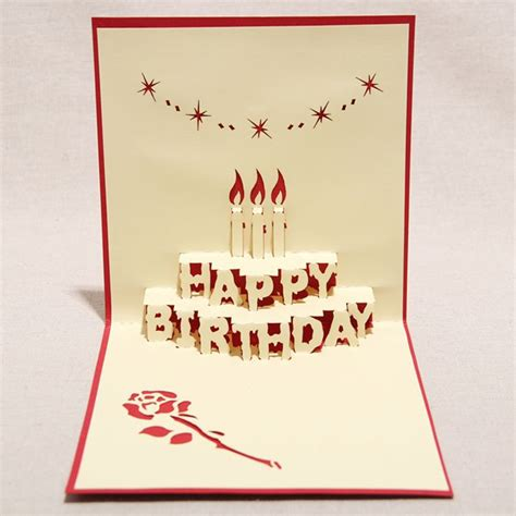 how to make paper cards for birthday 3d quot happy birthday quot handmade creative kirigami origami