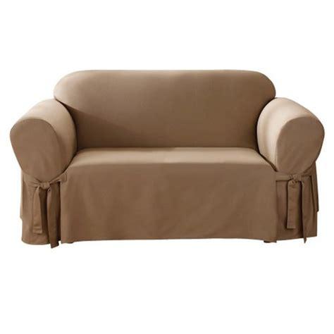 cotton duck sofa slipcover cotton duck sofa slipcover claret sure fit ebay