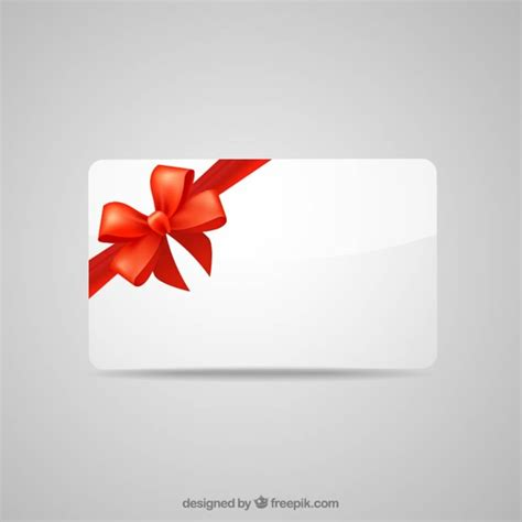 gift images free blank gift card with ribbon vector free