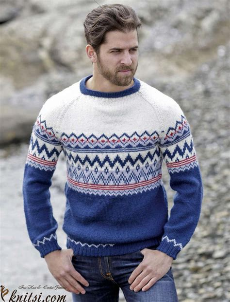 mens fair isle knitting patterns s fair isle sweater knitting pattern