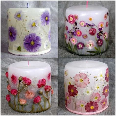 decoupage candles how amazing are these decoupage flower candles