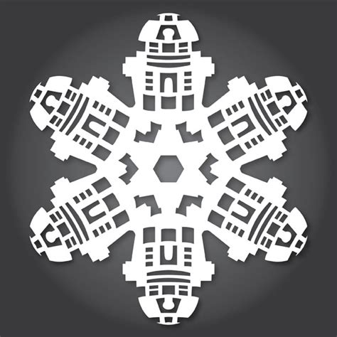 White Raider Deck by How To Make Star Wars Snowflakes With Paper Scissors And