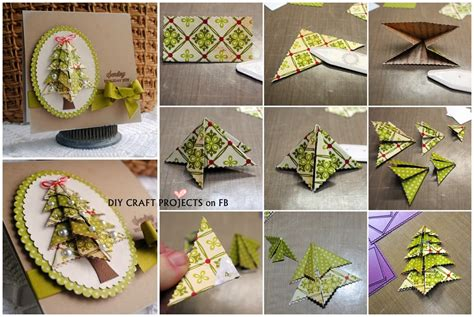 how to make a tree card origami tree card diy craft projects