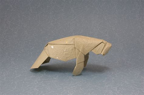 manatee origami manatee designed and folded by quentin trollip from an