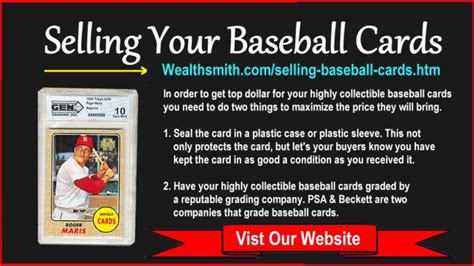 How To Sell My Baseball Card Collection Sell Your